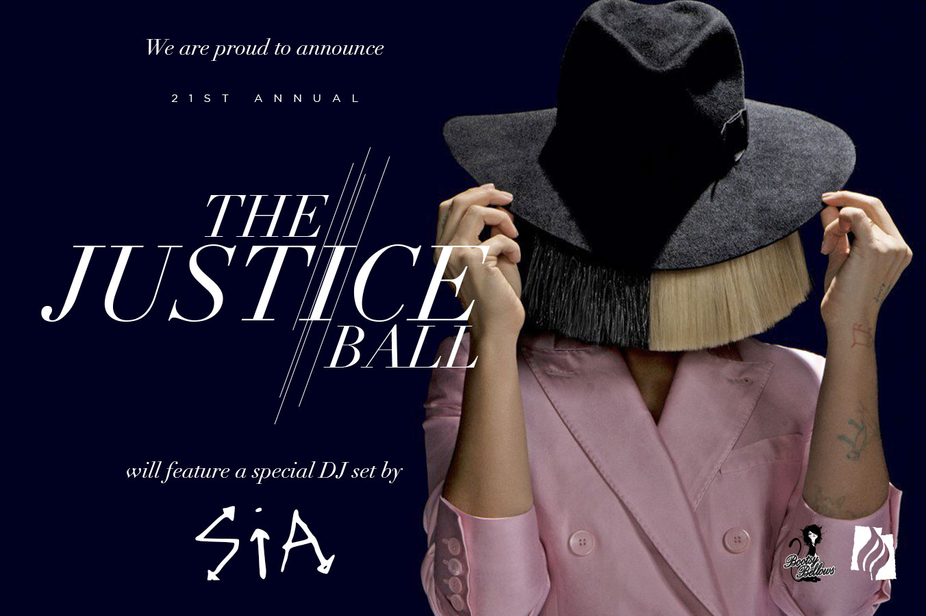 Sia Announcement @ Justice Ball